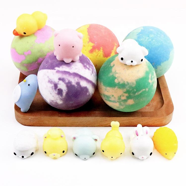 Best Wholesale Low Price Bubble Organic Vegan Natural Dinosaur Egg Shape Fizzy Bath Bombs with Toys