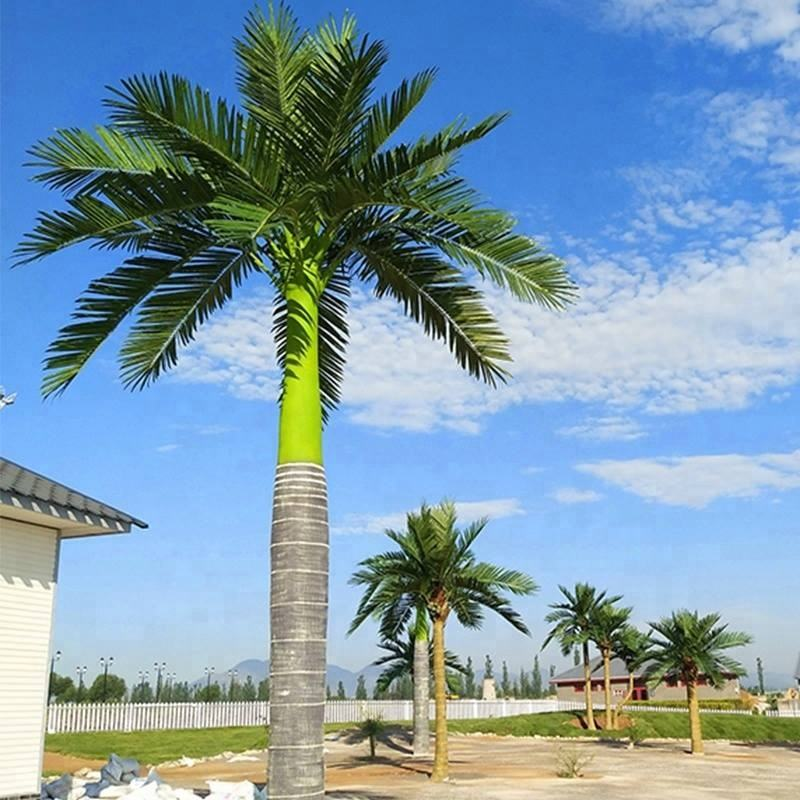 Outdoor royal palm tree synthetic artificial palm trees coconut trees for enviroment decoration