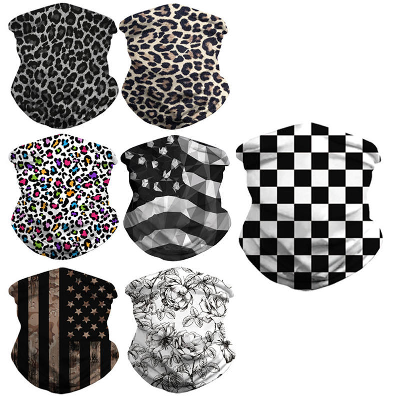 Custom Logo Milk Silk Seamless Multifunctional Face Head Cover Printed Country Flag Elastic Tube Bandana Scarf Neck Gaiter
