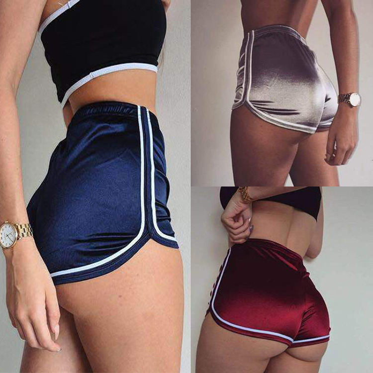 Supply high waist fashion elastic sports shorts compression sexy fitness yoga shorts women