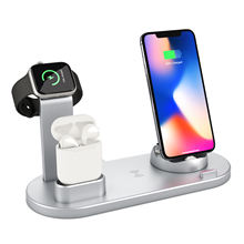 Wireless Charger 4 in 1 Wireless Charging Dock Compatible for airpod Charging Station Qi Fast Wireless Charging stand