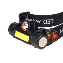 Magnet base 8w 700lm cob XPE rechargeable led headlight headlamp