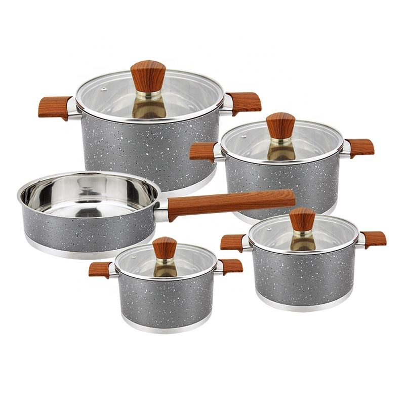 New Design stainless steel waterless cookware set cooking pot kitchen ware with nylon handle