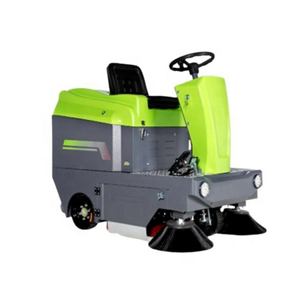 DW1250 warehouse ride on sweeper, vacuum sweep cleaning car/industrial road sweeper/automatic battery floor cleaner