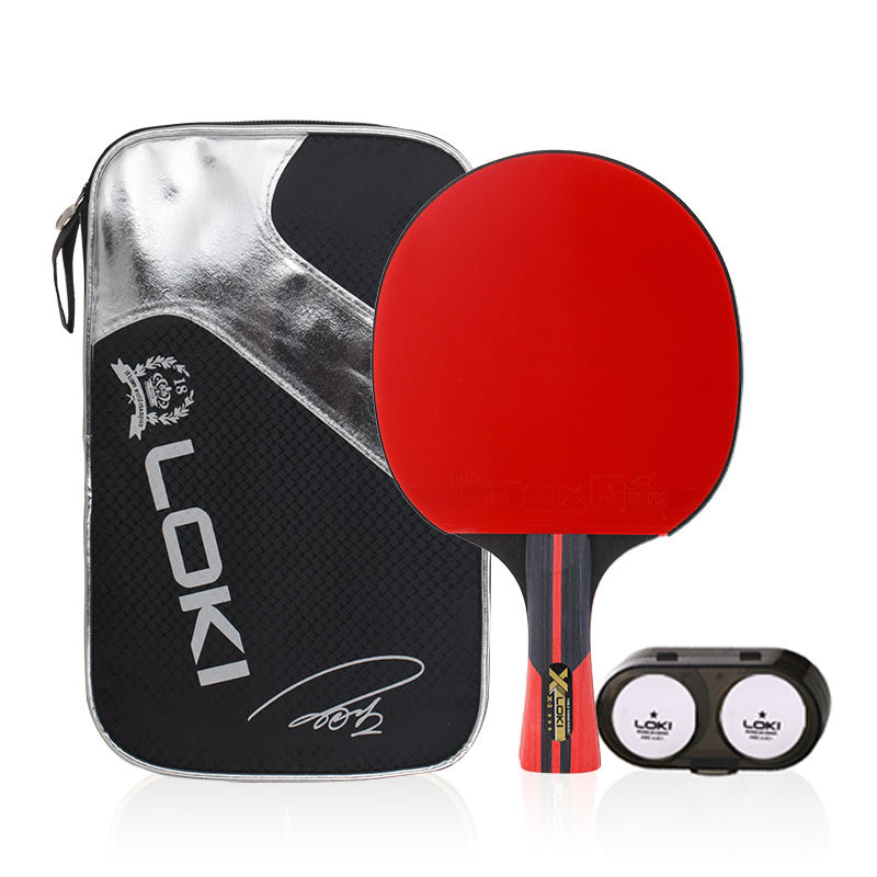 Loki High quality factory direct sale custom logo finished table tennis rackets ping pong paddle