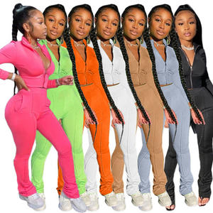 Women Tracksuits Jogger Pant Sets 2020 Women Coats Two Piece Set Fall Clothing Outfits 2 Piece Sets Pants Leggings