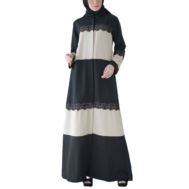 Latest burqa designs abaya Muslim women lace dress long sleeves Abaya