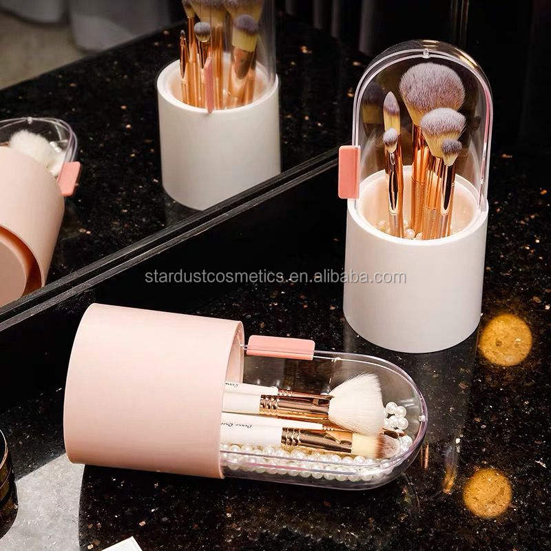 180 degree revolving cap Dust-proof Brush Storage Artist Brushes Travel cosmetic Bag Stand-up Makeup Cup Brush Holder