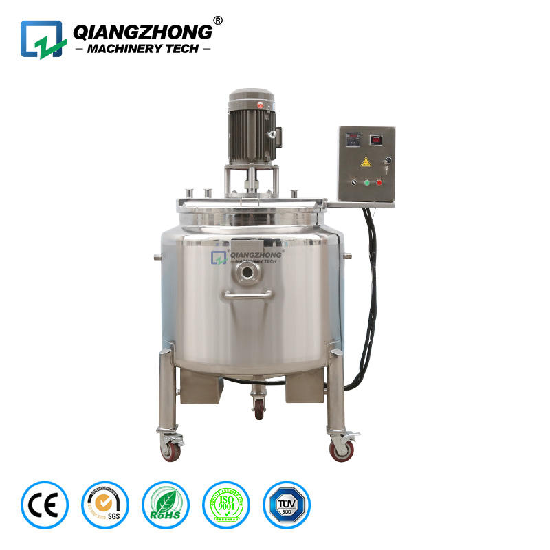 Movable electric heating three layer oil jacketed dispersion mixing tank
