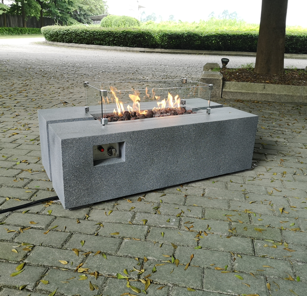 48in*25in*15in. Rect. MGO Outdoor Fire Pit Table
