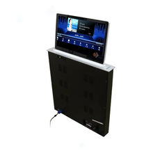 Conference Table Pop Up LCD Motorized Monitor Lift with HD Screen for conference system interior