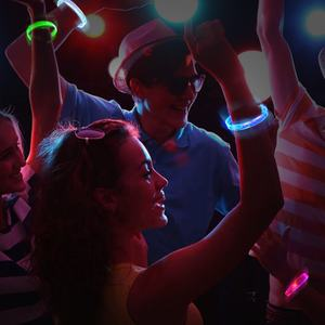 led party glow sticks bulk glowing in the dark bracelets for party supplies