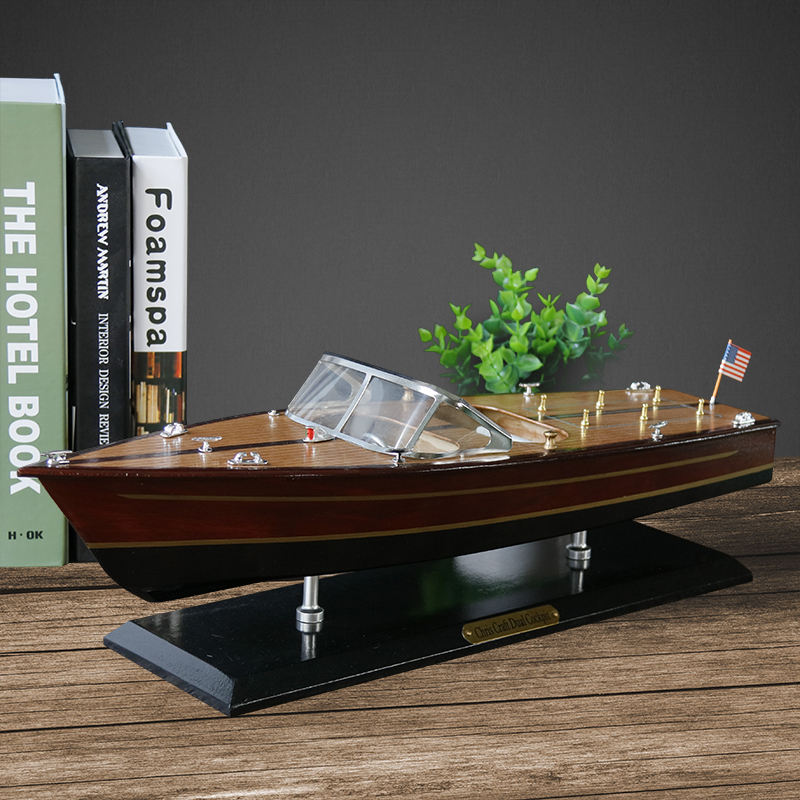 20'' Wooden Runabout Speed boat model chris craft runaboat riva Italian yacht model