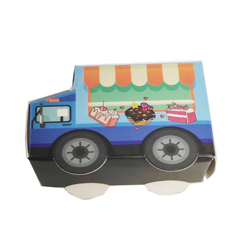 Wholesale Custom Creative Children's Cartoon Gifts Box Toy Car Shaped Foldable Box Candy Gift Box for Confectionery Packaging
