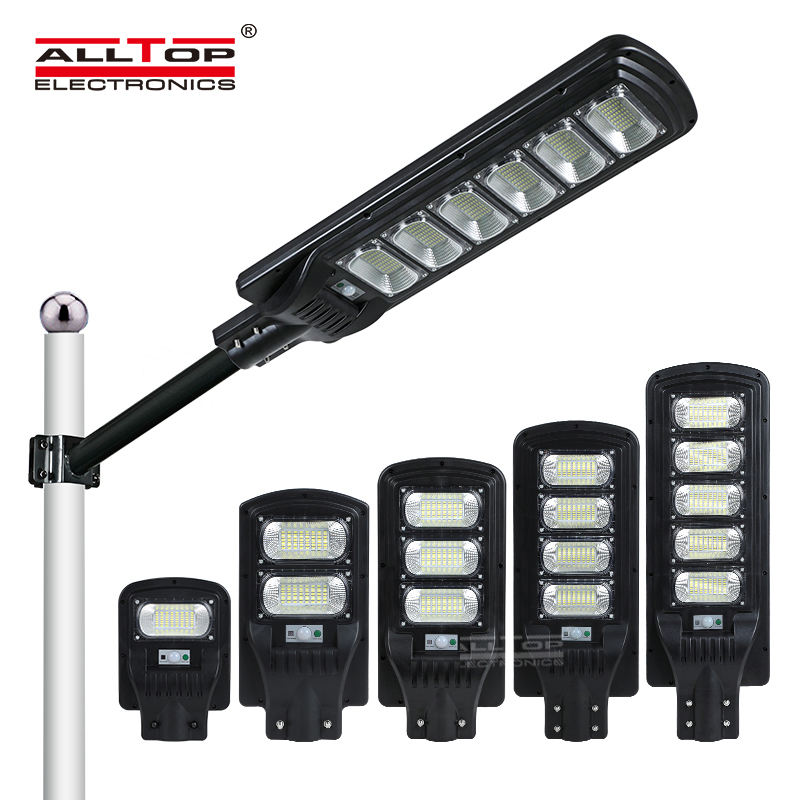 ALLTOP Motion Sensor ABS IP65 Waterproof Outdoor 30w 60w 90w 120w 150w Integrated All In One Led Solar Street Light