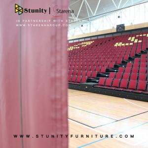 Indoor stadium recessed automatic folding up seat telescopic bleacher