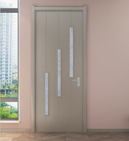 2021 nano-powder WPC door for home and villa with glass