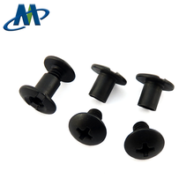 6.35mm 9.5mm length Carbon steel black oxidation Chicago Screw for leather holster/Kydex hardware kit