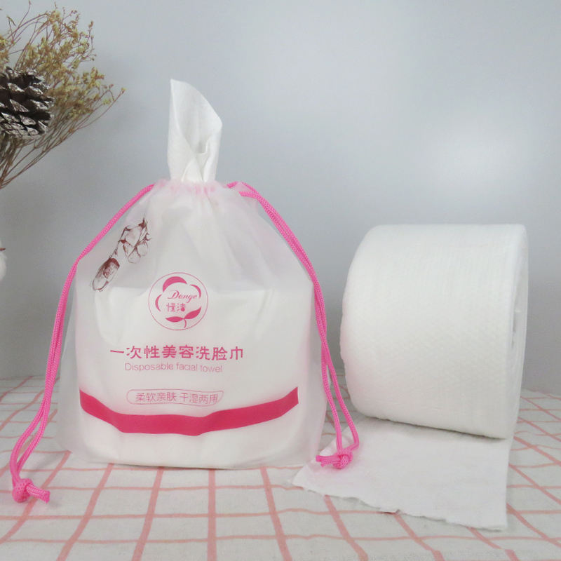 Guangzhou disposable cotton soft facial cleansing towel white tissue paper