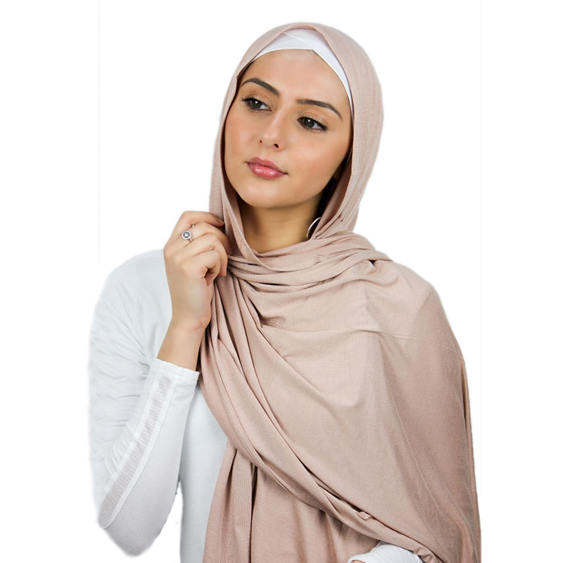 Wholesale high quality scarves Arab Dubai Muslim hijabs luxury soft premium stretch stoles cotton jersey scarf for women