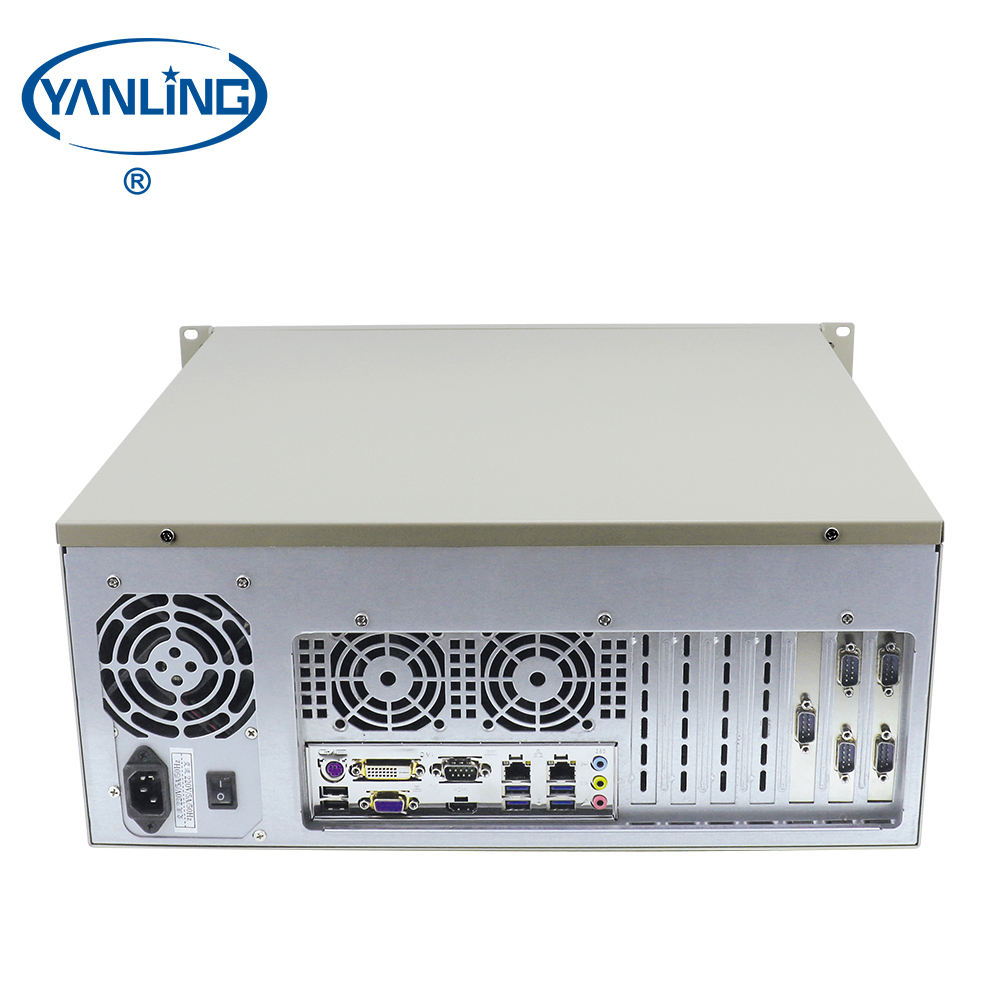 Cheap 4U Rack-mounted industrial server Intel core i7 6700 quad core nas storage servers with 6*COM DVI-D port