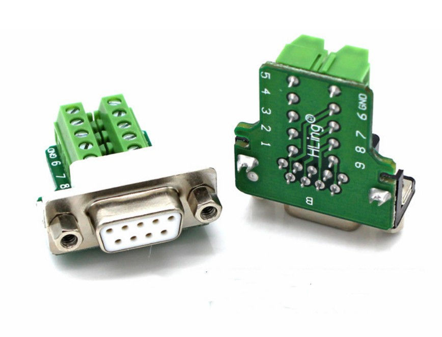 One-Stop Service D-sub 9 Pin Terminal RS232 485 DB9 Connector With Shell And Long Screw