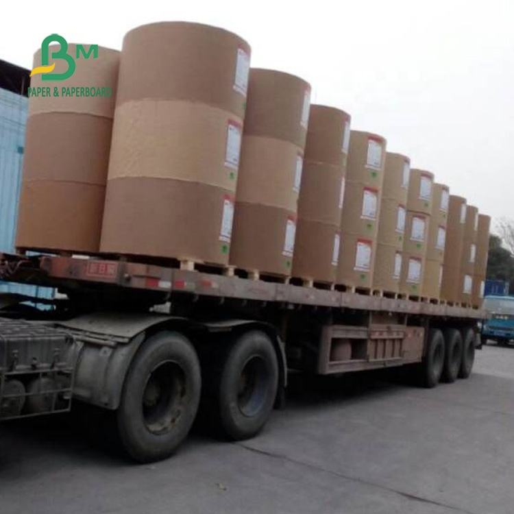 110g / 120g Recyclable Gray Corrugated Paper Roll For Box Carton