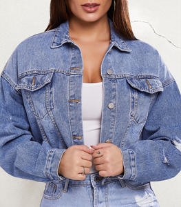 2020 Fashion Women Jeans Jackets Short Tops Long Sleeve Denim Coat Vintage Ripped For Women Clothing chaquetas mujer