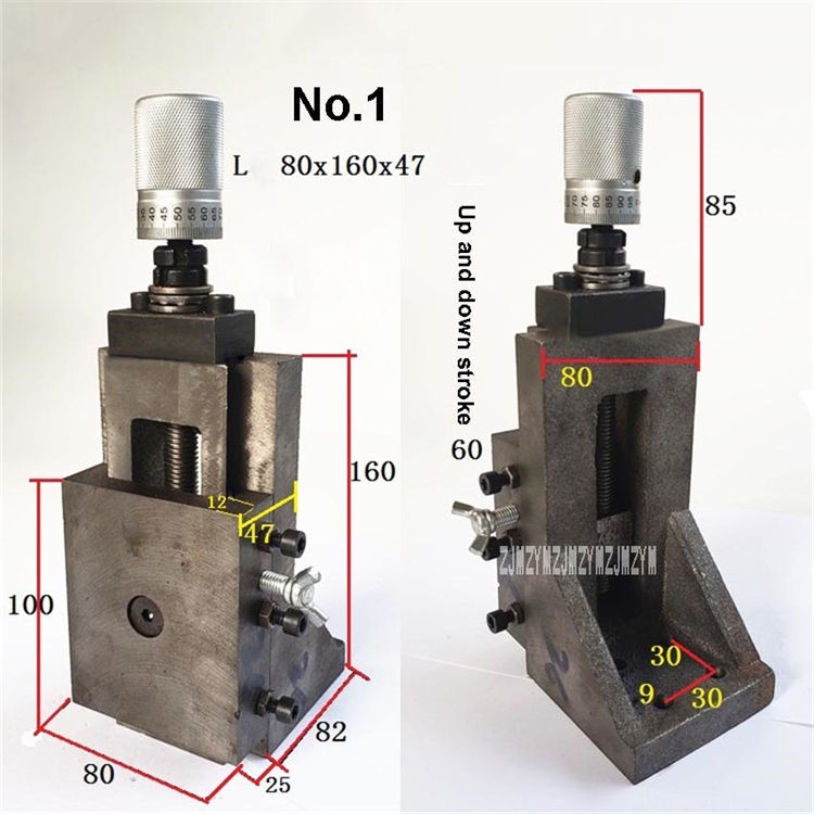 No. 1 Cylindrical Scale Vertical Right Angle Dovetail Slot With Rod Screw Carriage Slide Table Pallet L-type Lifting Slide