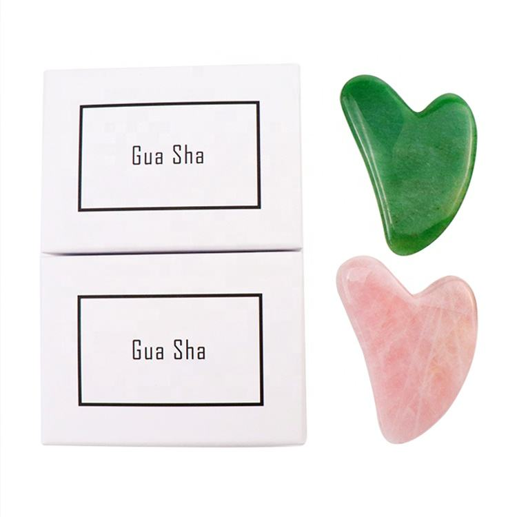 OEM / ODM Face Slimming Crystal Bian Stone Body Scraping Massage Tool Board Roller Green Jade Gua sha