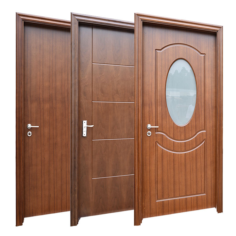 Prettywood Frosted Glass Modern Design Interior Wooden HDF MDF PVC Toilet Bathroom Door