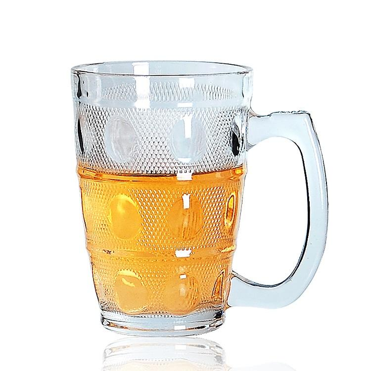 OEM/ODM Amazion hot selling 300ML Round Custom Beer Mug kitchen glassware cup in bulk