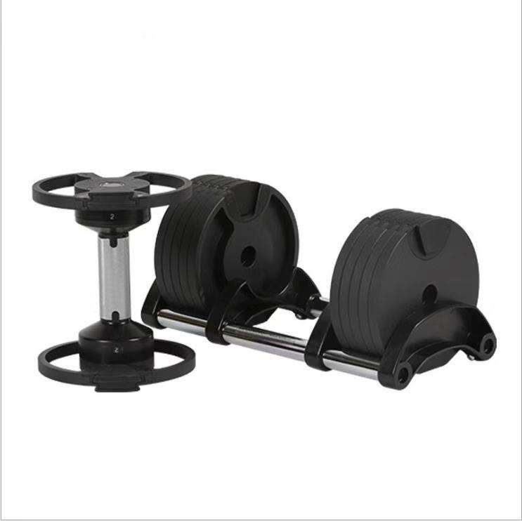 Gym fitness equipment adjustable weights dumbbell 32kg set with weight plates for wholesale