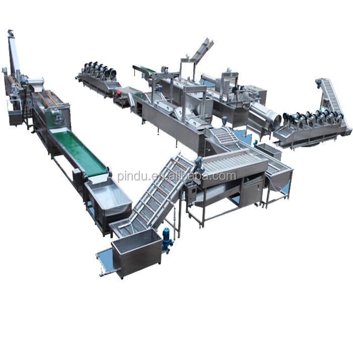 fully automatic frozen potato chips crisp french fries machine production line