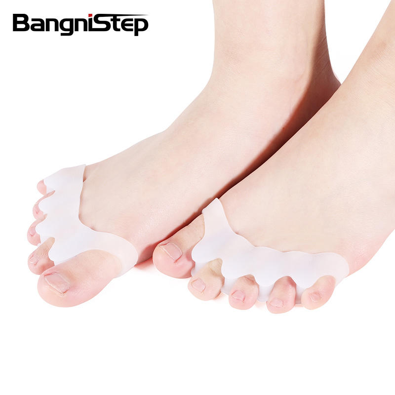 Bangnistep Foot Care Silicone Toe Separator Gel Toe Stretcher Bunion Corrector Hallux Valgus To Straighten Overlapping Toes
