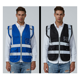 50inch High Visibility Reflecting Blue Mesh Safety Vest Zipper Safety Clothing Knitted Cloth Reflective Security Vest