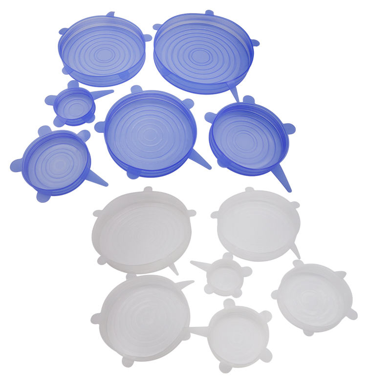 Amazon Hotselling LFGB Food Grade Silicone Stretch Lids BPA Free High Quality Silicone Stretch Lids Covers on Sales