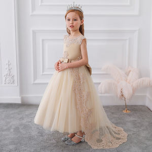 High quality wedding dresses for little girls evening gowns children frock model LP-255