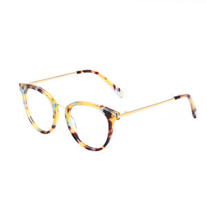 BOA1053 Best Sale Cat Eye Amber Acetate Optical Women Glasses Frame Eyeglass Frames Acetate