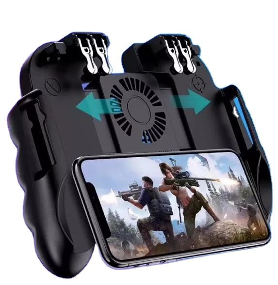 H9 Gamepad Cooling Fan Smartphone Power Bank Gamepad for pubg Controller L1R1 Trigger Joystick Handle Grip