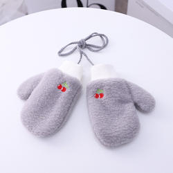 Children Autumn Winter Knitted Warm Gloves Girls Boys Infant