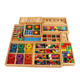 NO000 Froebel Gabe 15 sets Wooden Montessori Educational Early Development Preschool Training Learning Educational Toys
