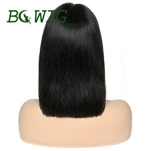 BC 130 Density 13x4 Straight Bob Lace Front Wigs With Bangs 8-14inch Remy Short Brazilian Human Hair Frontal Wig