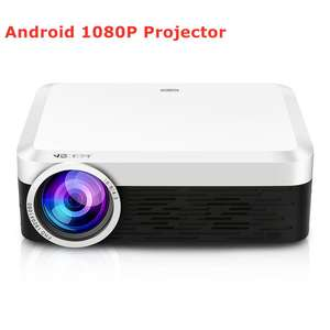 Full HD LCD Proyektor LED Video Game Mini 3d Smart Proyektor Mendukung 4 K Android Wi