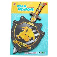 Dragon sword set toy for kids play 50 cm EVA soft sword toy hot selling cheap foam toy weapons