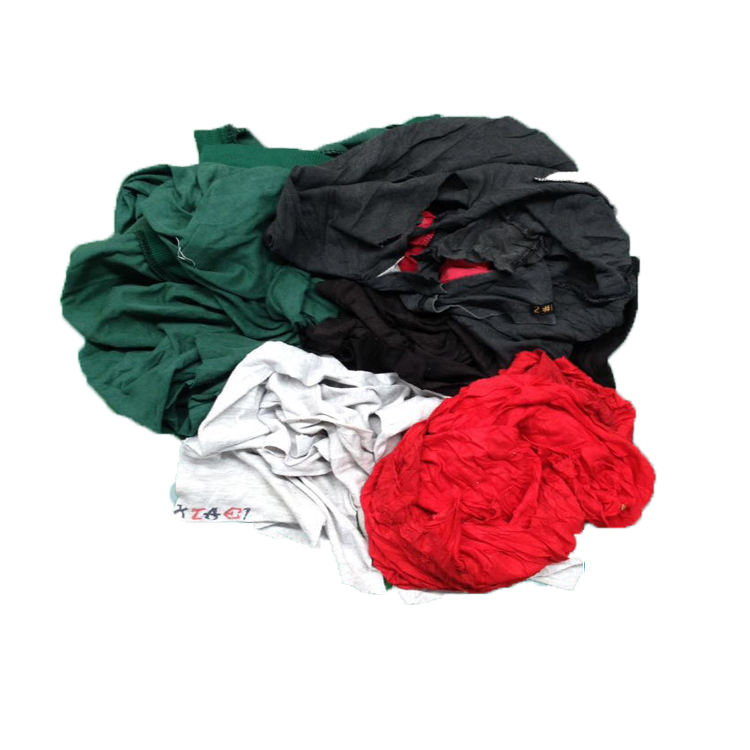 Textile waste 35-55 cm*35-55 cm Used clothing T-shirt Dark color cotton rags