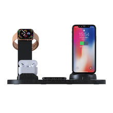 3 in 1 wireless charger stand for Apple watch 4 mobile phone holder dock station Charging dock for AirPods Pro
