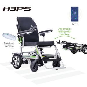 Airwheel certificado CE H3PS plegable automático ligero silla de ruedas eléctrica europea en Stock