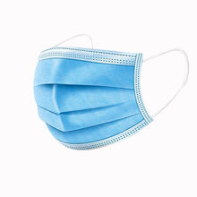 Disposable medical masks are provided with three layers of breathable protection against dust, fog and haze