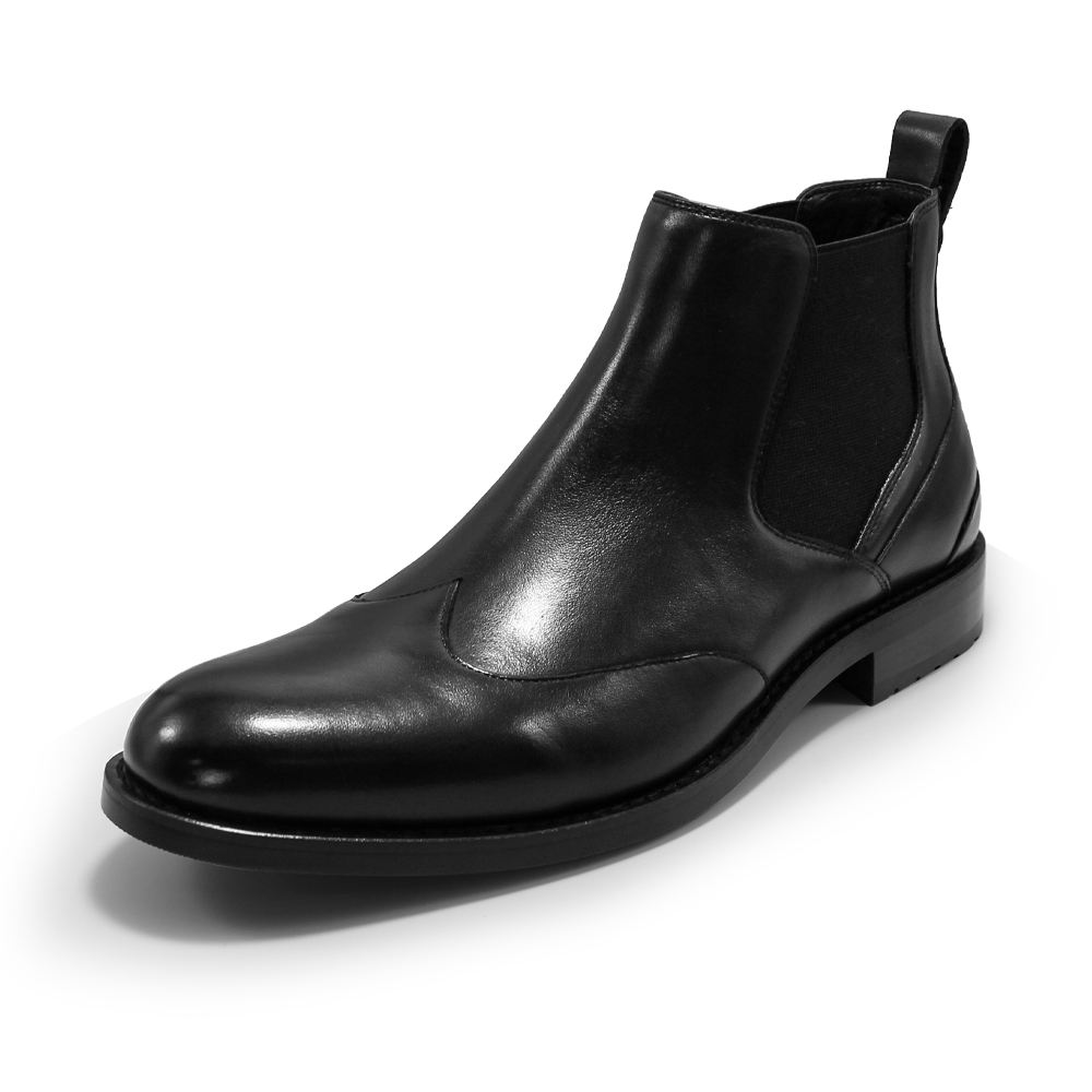 2021 new design mens black ankle boot men genuine leather dress chelsea boots for men